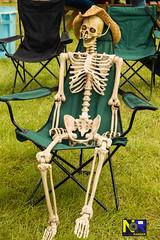 Skeleton (Nikon Ranger) Tags: scorton scortonsteam 2016 ribs skeleton bones anorexia anorexic hat chair thin hip boney old haunted broken green dead poser grass
