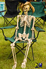 Skeleton (Nikon Ranger) Tags: scorton scortonsteam 2016 ribs skeleton bones anorexia anorexic hat chair thin hip boney old haunted broken green dead poser grass club male female sat seated rest wait toolong