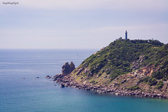 Dai Lanh Cape (langthangdaydo) Tags: ocean travel blue sea sky cloud lighthouse seascape green beach water rock stone landscape coast seaside sand rocks asia cloudy stones wave bluesky vietnam adventure cape traveling sands backpacker somewhere easten traveler seawater rockmountain easternmost