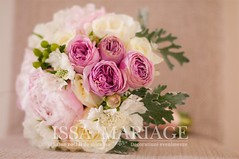 buchet de mireasa issamariage (IssaEvents) Tags: mireasa cu bujori albi si roz pal issamariage issaevents valcea slatina bucuresti