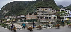 DSC0693a6000a  Workers - Aguas Calientes, Peru © 2016 Paul Light (Paul Light) Tags: aguascalientes peru buildings mountains workers