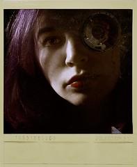 Seeing Through the Lens (Jocelyn Hendrickson) Tags: lighting selfportrait composite lowkey strobe darkart purplehair 2015 darkfairytale darkedit