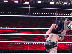 Diva Paige spins in Match (Eric Broder Van Dyke) Tags: california paige match diva wwe spins 2015 wrestlmania