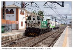 Herbicida en La Rinconada (japg) Tags: tractor tren puerto sevilla cordoba alfonsoxiii 310 006 contenedor mde guadaira cisterna riego 2015 ramal larinconada cisternas herbicida lasalud ptamo 310006
