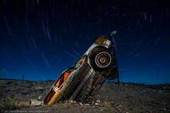 The Last Hurrah (dejavue.us) Tags: longexposure nightphotography lightpainting abandoned nikon desert nevada fullmoon nikkor startrails mojavedesert d800 goldfield 1835mmf3545d vle carforest
