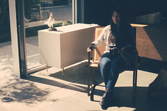 Karla sitting in the awesome store (uberblake) Tags: cool mix hip the vsco