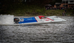 Rapid overtake (barksworld) Tags: st speed racing spray lancashire f2 powerboats hellens carrmill