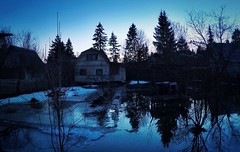 Flooded space (konstantinkulak) Tags: trees evening countryside flood dacha reflextion gopro hero4