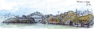 Sydney Harbour from Balmain Wharf