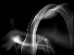 Intertwine (Shelby's Trail) Tags: monochrome smoke ~ incense intertwine hmbt monochromebokehthursday