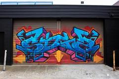 Fitzroy/Collingwood 16-05-16 (Divided Creative) Tags: city urban streetart art outdoors graffiti mural collingwood garage tag fitzroy australia melbourne victoria colourful rollerdoor