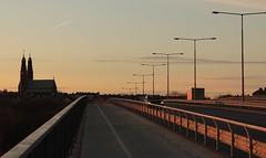 STOCKHOLM (MalinErika) Tags: bridge sky car sunrise stockholm