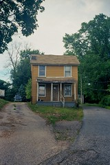 Lutherville (ADMurr) Tags: leica chimney house film 35mm kodak empty baltimore gone portra m4 summaron