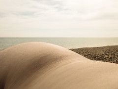 hip (scottfowler1172) Tags: sea selfportrait colour public self nude seaside pebbles sensual co malenude selfprotrait