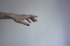 118/366 (abnormalbeauty.) Tags: light shadow white girl tattoo lady hand skin feminine fingers nails pure