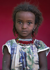 Portrait of an afar tribe girl with a beaded necklace, Afar region, Semera, Ethiopia (Eric Lafforgue) Tags: africa girls portrait people color cute girl childhood vertical scarf outdoors photography necklace child african muslim islam tribal teenager shawl ethiopia tribe ethnic beautifulpeople oneperson traditionalculture adornment hornofafrica individuality ethiopian afar eastafrica redbackground abyssinia traditionalclothing lookingatcamera samera waistup danakil 1people asayta indigenousculture onegirlonly afarregion nomadicpeople onechildonly assaita semera assayta ethio162276