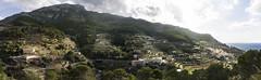 Banyalbufar en panormico (Sacule) Tags: mountain canon landscape spain europa village pueblo paisaje panoramic pasted montaa mallorca tramuntana 2016 600d banyalbufar sigma1770 pastedpanoramic