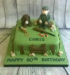 Hunting Cake (pollyd (Paula)) Tags: birthday men boys gun pheasant outdoor rifle hunting novelty shooting 60th cartridge pollyd1970 abigaillilycakes