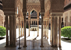 Alhambra Palace with the Lion Fountain (Amberinsea Photography) Tags: voyage beautiful architecture spain citadel famous culture palace adventure alhambra moorish granada historical andalusia unescoworldheritage patiodelosleones lionfountain amberinseaphotography thecourtyardofthelions