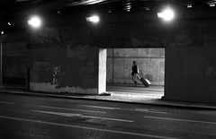 In the concrete window (pascalcolin1) Tags: light shadow blackandwhite paris noiretblanc tunnel ombre lumiere suitcase chanel streetview valise lampes photoderue urbanarte photopascalcolin