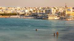 Otranto. (WaSz-Fotograf) Tags: city travel blue light sunset sea summer italy sun green beach water beautiful beauty italia it otranto puglia apulia wochy 500px ifttt