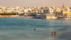 Otranto. (WaSz-Fotograf) Tags: city travel blue light sunset sea summer italy sun green beach water beautiful beauty italia it otranto puglia apulia włochy 500px ifttt