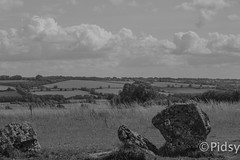 Cotswold countryside (dave and jodi piddington) Tags: uk sky blackandwhite holiday clouds dark landscape landscapes europe break time cloudy away cotswolds abroad jamaica fields caribbean cotswold timeaway