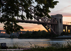 A romantic evening (DCG8) Tags: sunset summer newyork bridges queens hellgatebridge archbridge sonya7
