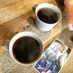 Hot pourover coffee time at Market Lane Coffee in Prahran