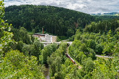 Metal Industry in the Zschopau Valley (redfurwolf) Tags: sky mountain train river germany europe factory view saxony zschopau erzgebirge oremountains sonyalpha erzgebirgsbahn wolkensteinerschweiz sel35f14z redfurwolf kellerlochfelsen