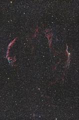 Cygnus Loop - first attempt (Claus Steindl) Tags: sky canon stars eos veil loop deep nebula astrophotography pro network ef cirrus 6d 400mm lacerta cygnus skywatcher mgen f56l heq5 astrometrydotnet:status=solved astrometrydotnet:id=nova1644506