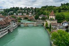 Bern: the turquoise Aare - Explored (jaeschol) Tags: water river switzerland turquoise stadt bern aare trkis kantonbern