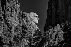 Rushmore (Ben Roffelsen Photography) Tags: monochrome southdakota nikon south profile rushmore mount dakota