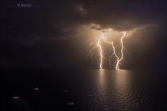 Lightning (W.MAURER foto) Tags: nikon meer wasser wolken grau lightning blitz gewitter dunkel stimmung donner unwetter nikond800