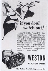 Weston 1951 (Runabout63) Tags: photography exposure advert meter weston