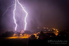 neighbor blasted (Florian Aeby) Tags: storm orage clair lightning neighbor blasted suisse kluck canon 5d iii