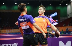 XU-XIN/Zhang Zhike (ittfworld) Tags: world sport ball championship shanghai emotion action young tennis tabletennis junior championships chine
