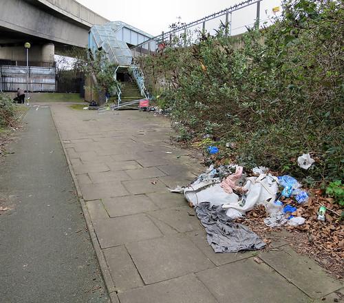 Dumping Near the Footbridge