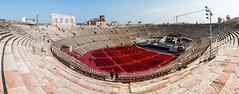 Arena di Verona, in pano mode, Italy. (Giuseppe Pipia) Tags: travel panorama history tourism canon landscape view arena verona vista turismo viaggio paesaggio storia 70d teamcanon