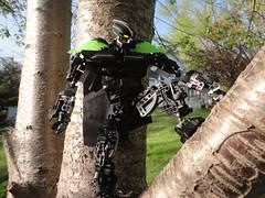 Banshee early 2015 (Toa Banshee) Tags: black tree green nature toy lego banshee sound cape sonics bionicle toa