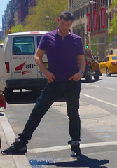 wide spread legs2 (PeepHole of New York) Tags: yarmulke purpleshirt