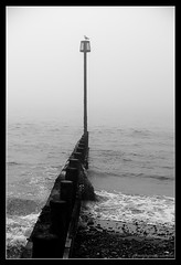 LITTLEHAMPTON. 5 (adriangeephotography) Tags: sea england mist beach misty photography sussex coast nikon south adrian gee groyne markers nikon1v1 adriangeephotography