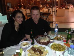 Faye and Tor Erling our last night in Beirut!