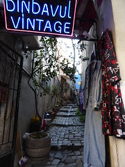 Istanbul - secondhand clothing shop on Galip Dede Street (ashabot) Tags: travel turkey istanbul citystreets streetscenes worldcities