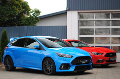 Ford Focus RS 2015 - Ford Mustang GT 2015 (MarcoT1) Tags: ford 50mm nikon focus hungary mustang gt rs szolnok 2015 d3000