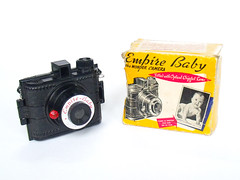 Empire Baby Camera (Antique_Camera_Guy) Tags: camera old baby film vintage toy japanese antique toycamera chinese retro 127 plastic 1950s empire vintagecamera 1960s simple cheap inexpensive oldcamera plasticcamera 127film antiquecamera cheapcamera empirebaby retrocamera 127camera simplecamera empirebabycamera inexpensivecamera