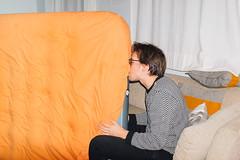 Hannes (subliner) Tags: orange bed naranja inflate gipsy trompeta hinchable soplando colchn restform cojonuten