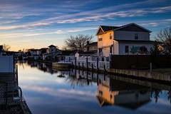 End of Day II (Bob90901) Tags: longexposure newyork water canon evening canal spring outdoor dusk filter lee nd april 6d endofday 2016 lindenhurst neutraldensity gradnd graduatedneutraldensity canonef2470mmf28liiusm leebigstopper rpg90901