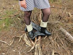 Hunters in woods (jazka74) Tags: fun boots rubber use hunter wellies