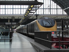 London: Eurostar trains, St Pancras International (michaelday_bath) Tags: london eurostar tgv londonstpancrasinternational brclass373 eurostare300 tvgtmst